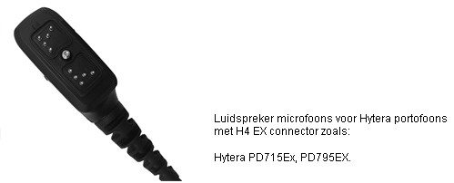 Explosieveilige Luidspreker Microfoons met H4 connector voor Hytera PD705 tm PD985 serie