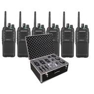 Kenwood TK-3701D Protalk portofoonset (6 stuks) incl. transportkoffer