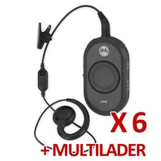 Motorola CLP446 portofoonset (6 stuks) met groepslader
