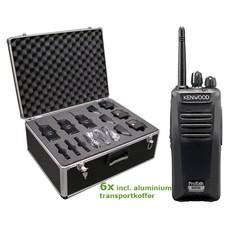 Kenwood TK-3401D Protalk portofoonset (6 stuks) incl. transportkoffer