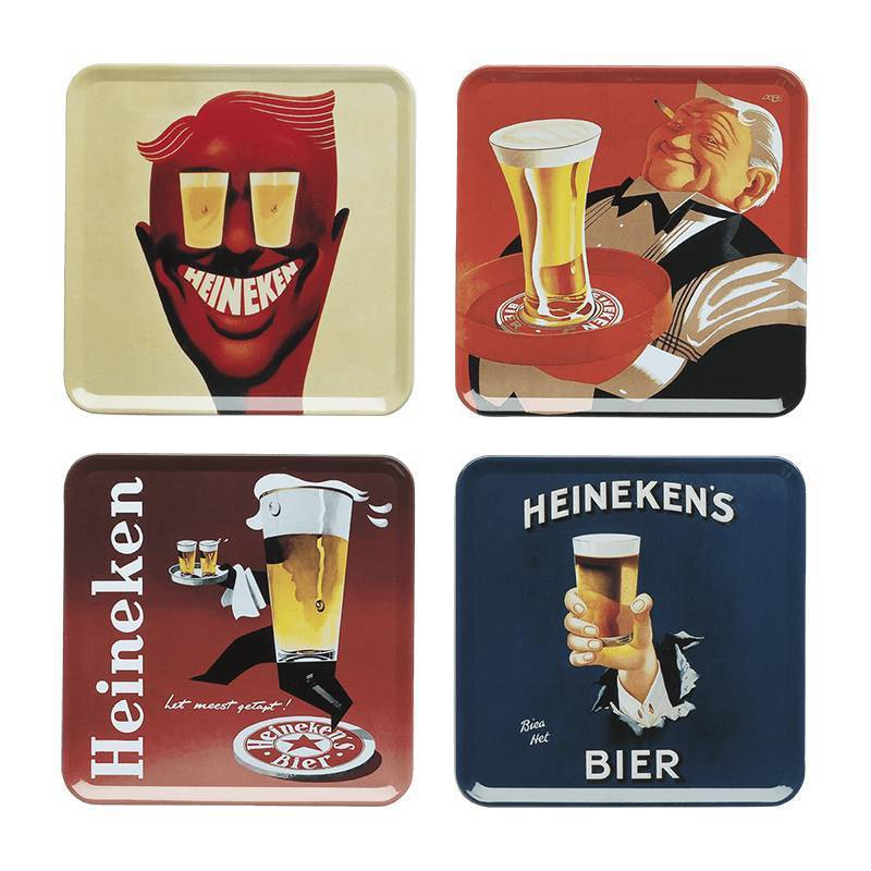 Heineken Tin Coasters
