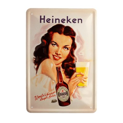 Retro metal bar sign - Pin up girl  (30 x 20cm)