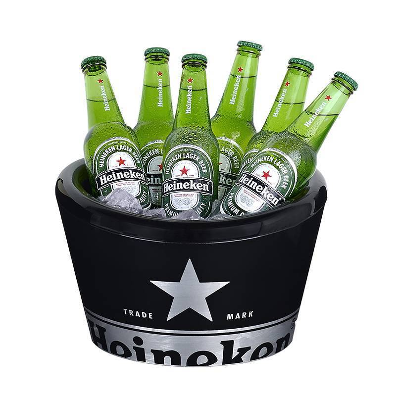 Heineken Double Walled Ice Bucket Black