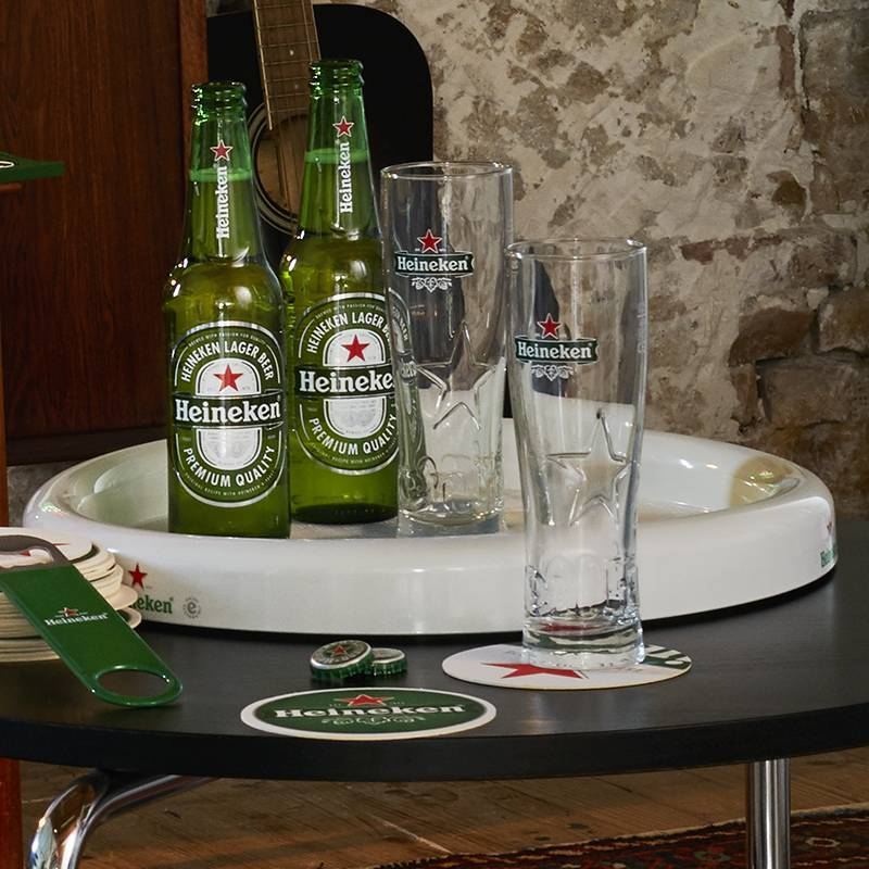 Heineken Curved Waiter Tray White