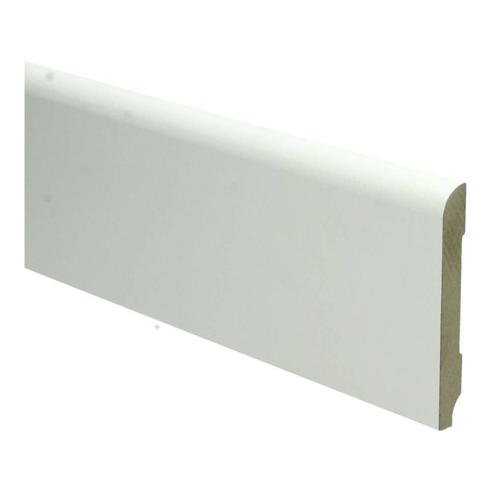 Basics4Home MDF Koloniale Plint 60/90x12x2400 Wit Voorgelakt RAL9010