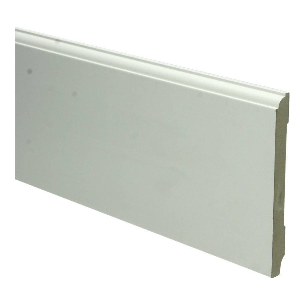 Basics4Home MDF Eigentijdse Plint 70/90/120x12x2400 Wit Voorgelakt RAL9010