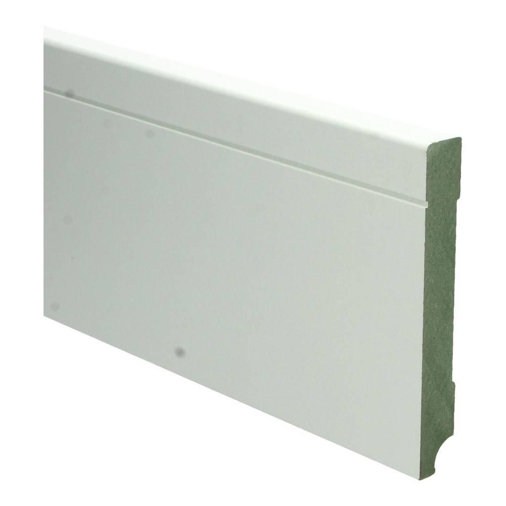 Basics4Home MDF Tijdloze Plint 90/120/150x15x2400 Wit Voorgelakt RAL9010