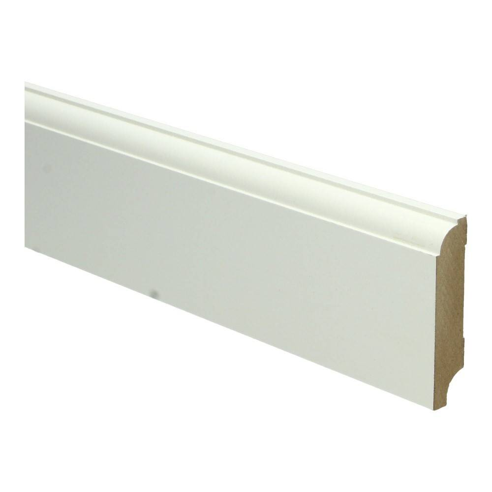Basics4Home MDF Eigentijdse Plint 70/90/120/150x15x2400 Wit Voorgelakt RAL9010