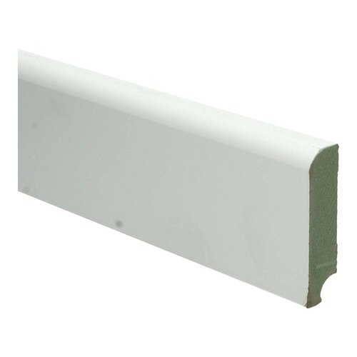Basics4Home MDF Koloniale Plint 76/129x18x2400 Wit Voorgelakt RAL9010