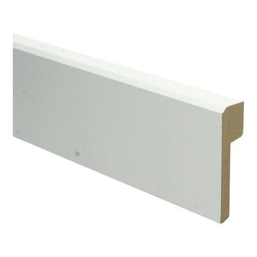 Basics4Home MDF Klassiek Renovatie Plint Recht 85/120x22x2400 Wit Voorgelakt RAL9010