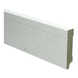 Basics4Home 18mm MDF Tijdloze Plint Wit Voorgelakt RAL9010