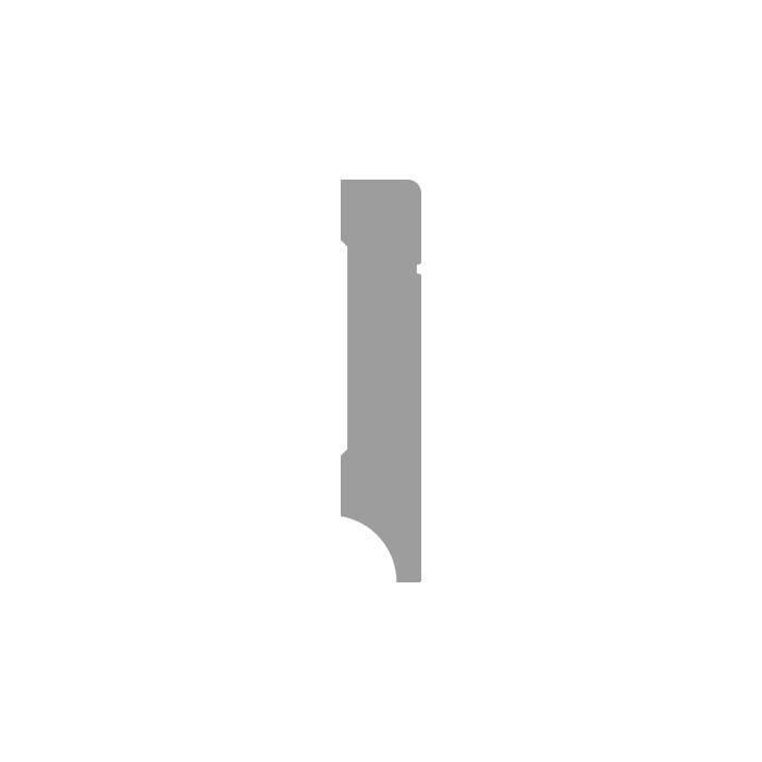 Basics4Home MDF Tijdloze Plint 90/120/150x18x2400 Wit Voorgelakt RAL9010