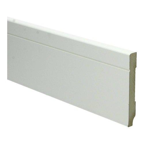 Basics4Home MDF Tijdloze Plint 90/120x12x2400 Wit Voorgelakt RAL9010