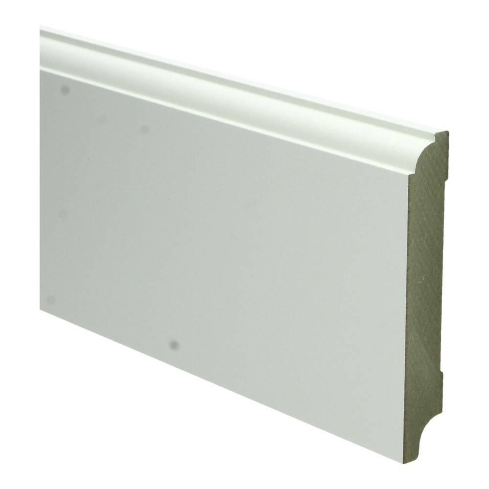 Basics4Home MDF Eigentijdse Plint 70/90/115/150x18x2400 Wit Voorgelakt RAL9010
