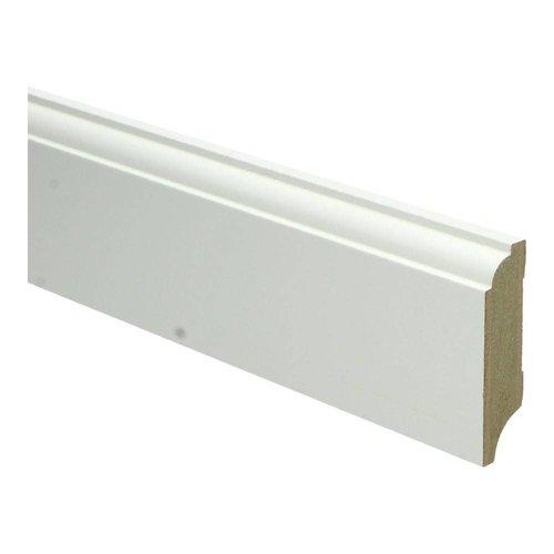 Basics4Home 18mm MDF Eigentijdse Plint Wit Voorgelakt RAL9010