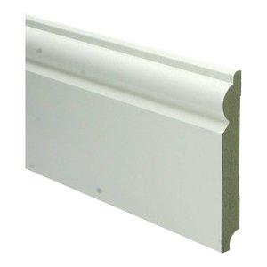 Basics4Home 15mm MDF Barok Plint Wit Voorgelakt RAL9010
