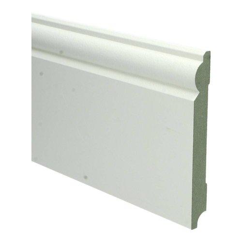 Basics4Home 18mm MDF Barok Plint Wit Voorgelakt RAL9010