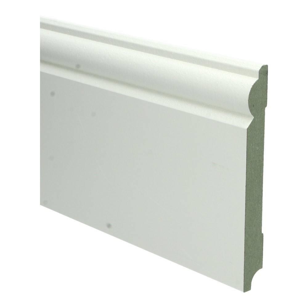 Basics4Home MDF Barok Plint 150/190x18x2400 Wit Voorgelakt RAL9010