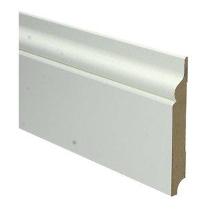Basics4Home MDF Romantische Plint 120x15x2400 Wit Voorgelakt RAL9010