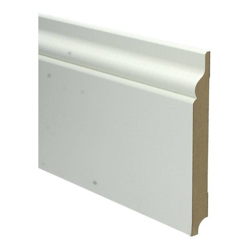 Basics4Home MDF Romantische Plint 150/190x18x2400 Wit Voorgelakt RAL9010
