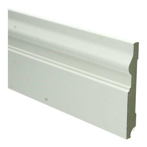 Basics4Home 15mm MDF Renaissance Plint Wit Voorgelakt RAL9010