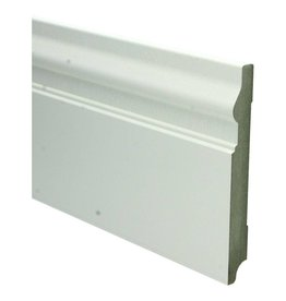 Basics4Home MDF Renaissance Plint 150/190x18x2400 Wit Voorgelakt RAL9010