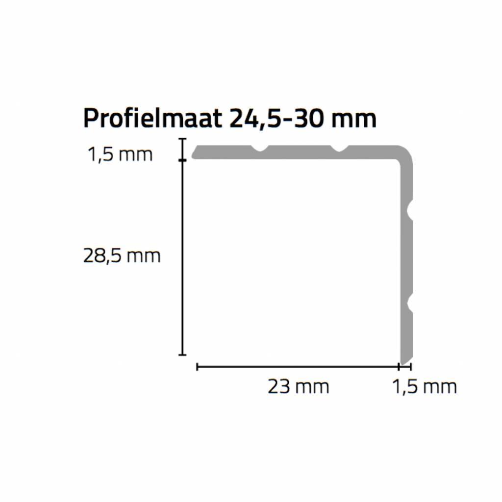 Basics4Home 67xxx Duo-Hoeklijnprofiel zelfklevend 24,5-30 mm 2,0 M