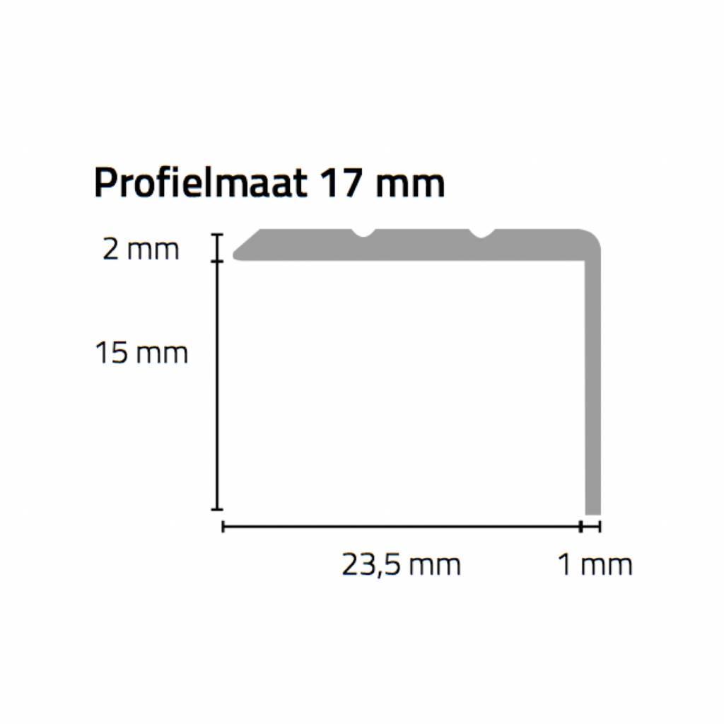 Basics4Home Hoeklijnprofiel zelfklevend 17 mm 1,0 M
