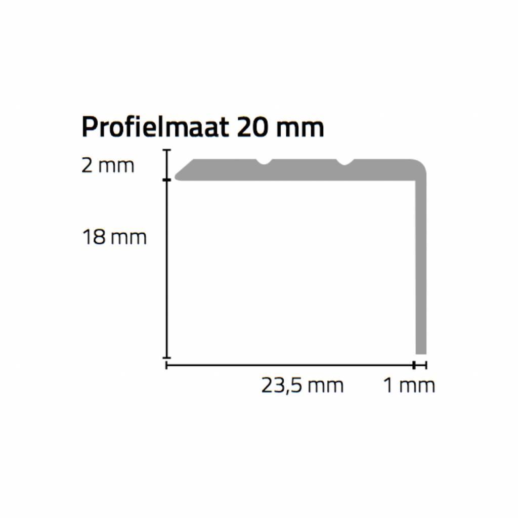 Basics4Home Hoeklijnprofiel zelfklevend 20 mm 1,0 M