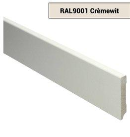 Basics4Home MDF Moderne Plint 70/90/120x12x2400 Voorgelakt RAL9001