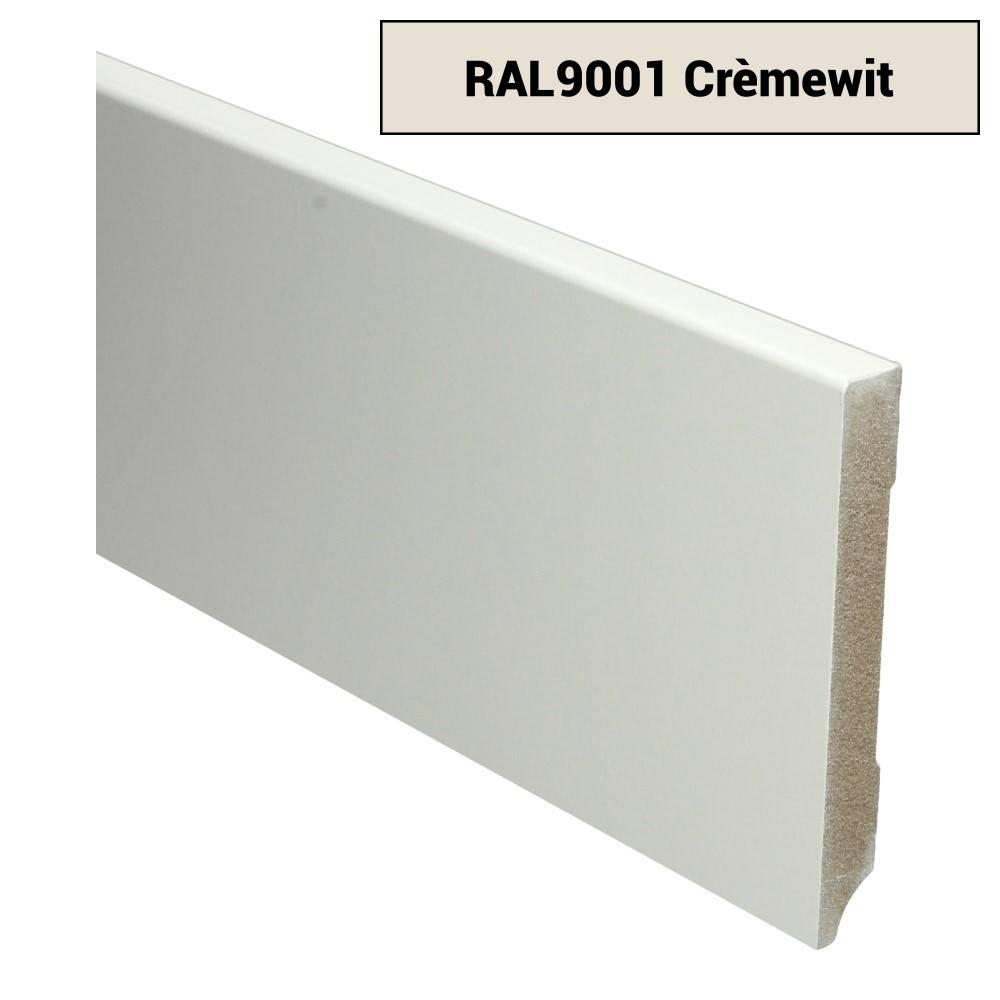 Basics4Home MDF Moderne Plint 70/90/120x15x2400 Voorgelakt RAL9001