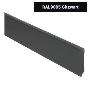 Basics4Home 12mm MDF Moderne Plint Voorgelakt RAL9005