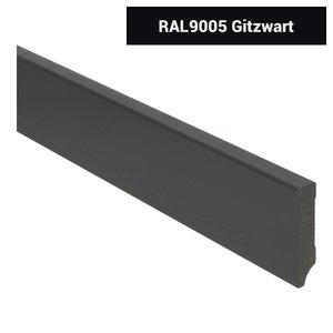 Basics4Home MDF Moderne Plint 70/90/120x15x2400 Voorgelakt RAL9005