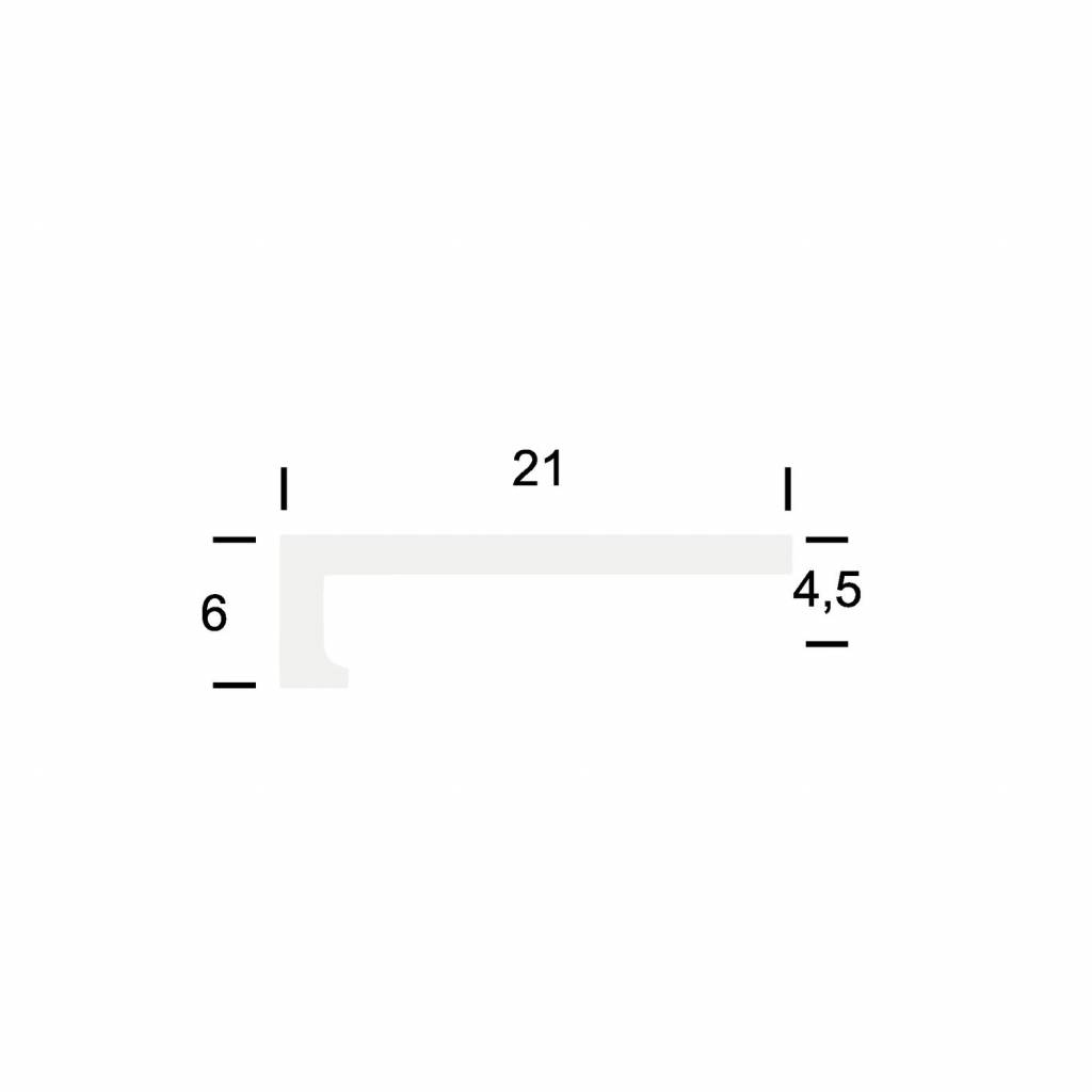 Basics4Home Hoeklijnprofiel zelfklevend 4 mm 2,5 M