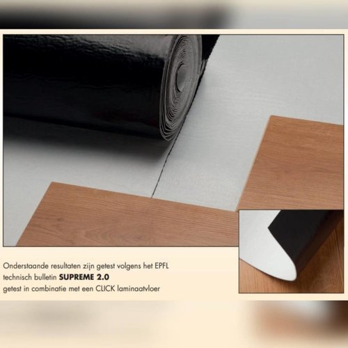 Basics4Home 5587 Suprime Ondervloer voor vloerverwarming & 10db Geluidsreducerend