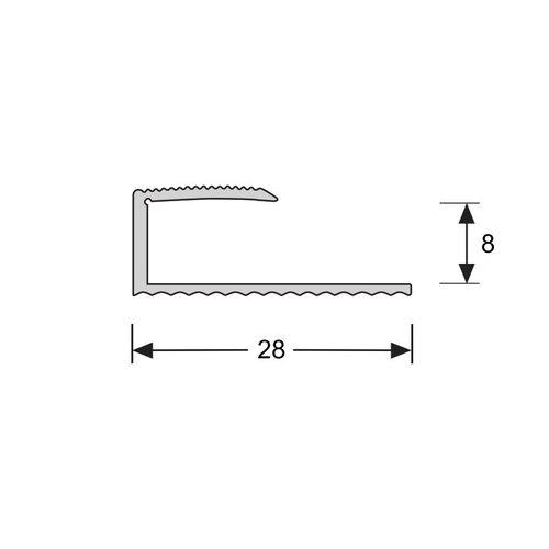 Basics4Home U-profiel Verlijmd 8,1 mm 2,7 Meter