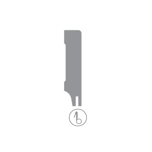 Basics4Home MDF Moderne Plint Recht  + Uitsparing Wit Voorgelakt RAL9010