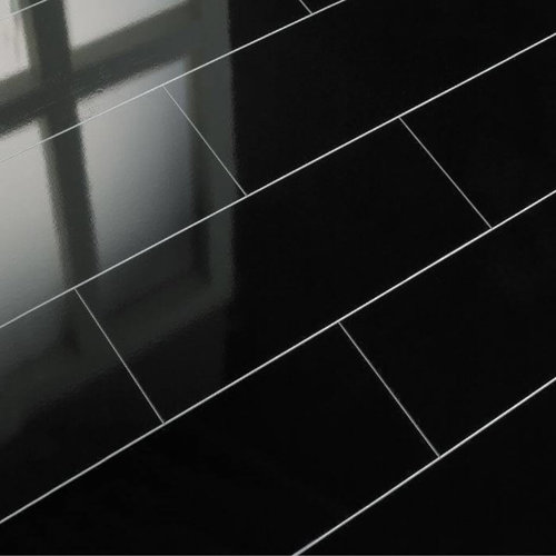 Falquon RHG0010 Zwart Hoogglans Tegel Laminaat