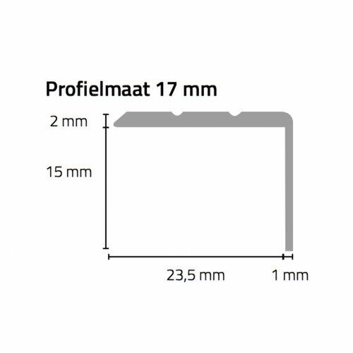 Basics4Home 17 mm Hoeklijnprofiel zelfklevend 2,7 meter