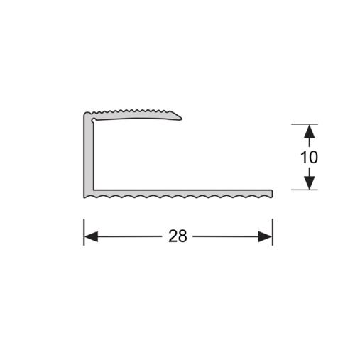 Basics4Home U-profiel Verlijmd 10,1 mm 2,7 Meter