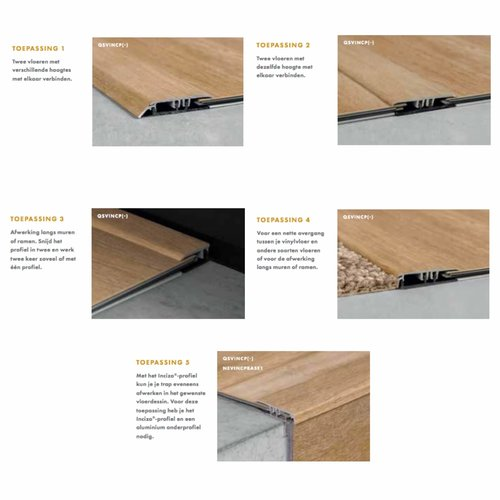 Quick-Step QSVINCP(-) Incizo PVC profiel (45x8) Quick-Step