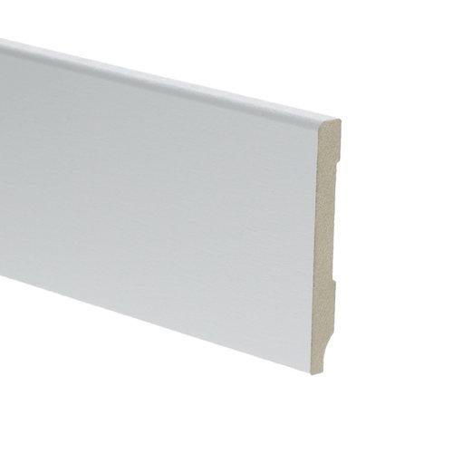 Basics4Home MDF Moderne Plint Recht Wit Voorgelakt RAL9010