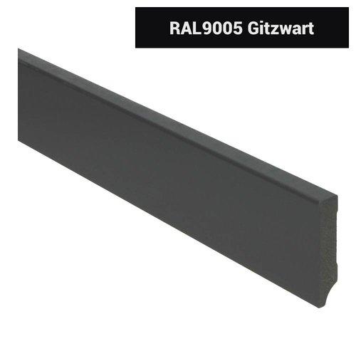 Basics4Home 18mm MDF Moderne Plint Voorgelakt RAL9005