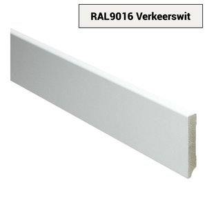 Basics4Home 18mm MDF Moderne Plint Voorgelakt RAL9016