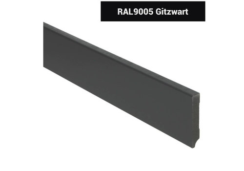 RAL9005 MDF Plinten Gitzwart