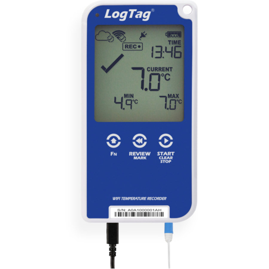LogTag UTRED 30-WiFi - 30-day WiFi logger with display