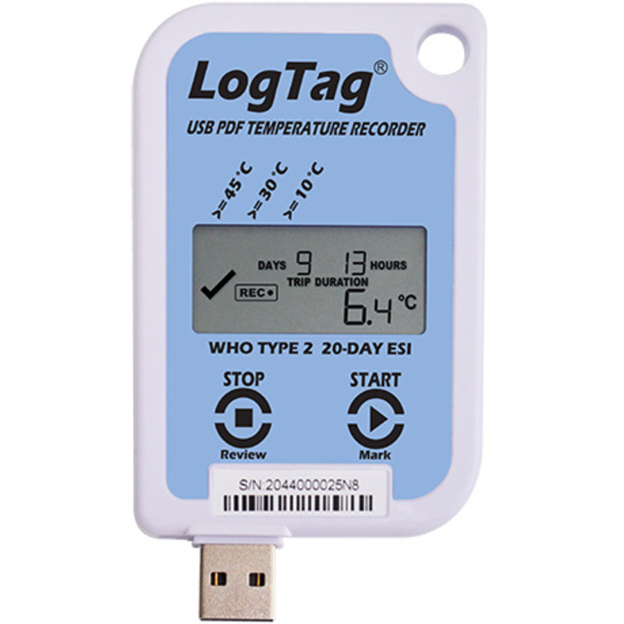 LogTag USRID-16W2 temperature recorder for vaccines