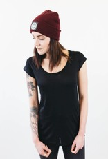 Tencel black with waisted cut and short sleeves