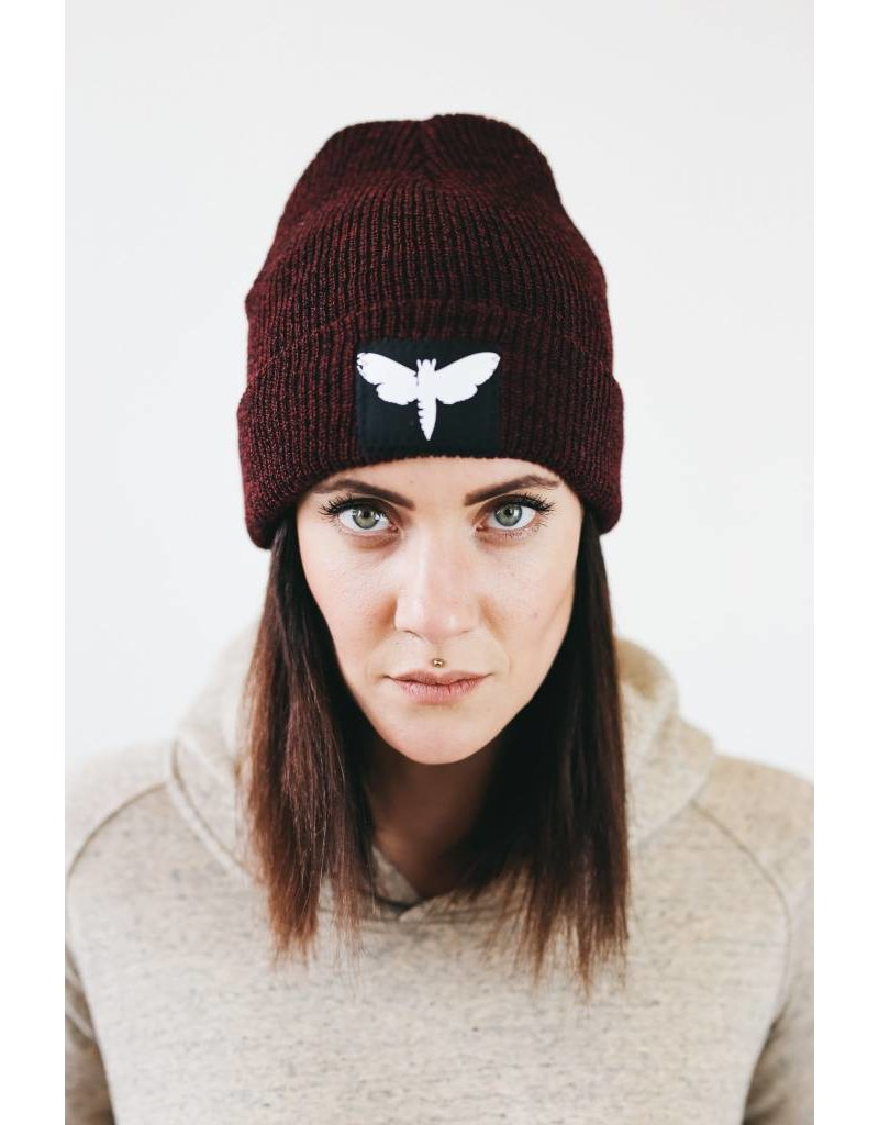 Motte Beanie red wine flecked