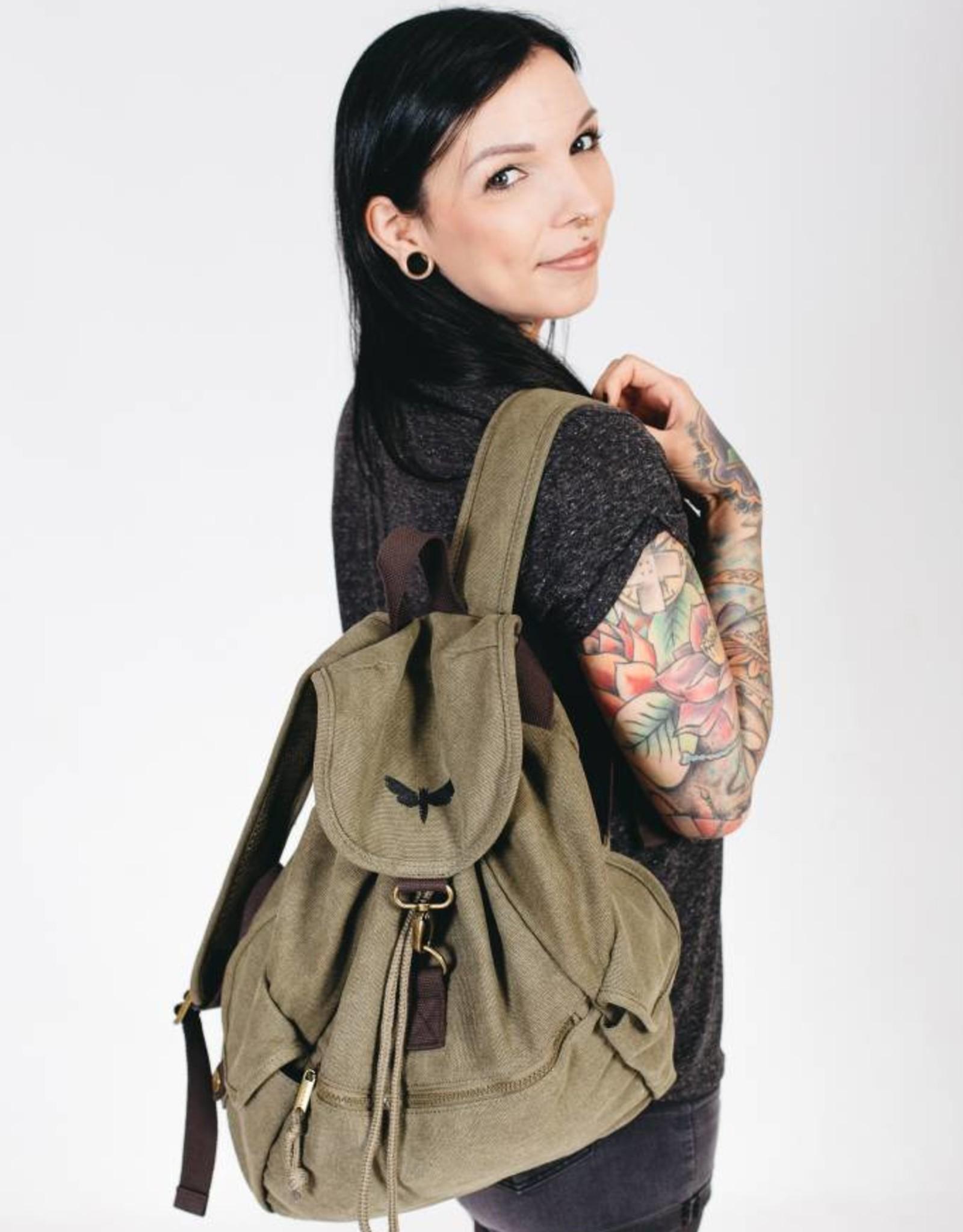 Motten Vintage  Backpack - oliv
